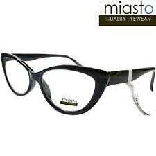 c6e799e5c1d NWT 39.99 MIASTO THICK CAT EYE SEXY READER READING GLASSES+1.25 BLACK  (MEDIUM)