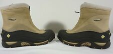 Columbia Womens Snow Boots Size 6.5 Brown Black Zip Up Insulated.EU 37.5 UK 4.5