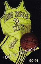 1990-91 LONG BEACH STATE 49ERS BASKETBALL POCKET SCHEDULE