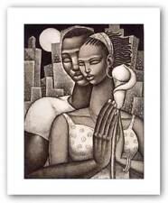 Rhapsody Etching Keith Mallett African American Art Print 9x7