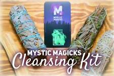 Negative Energy Smudging & Cleansing Kit! Blue, Black, & White Sage + Palo Santo