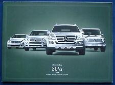Prospekt brochure 2008 Mercedes SUV G-Class * M-Class * GL-Class (USA)