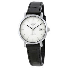 Longines Elegant Automatic White Dial Ladies Leather Watch L43104122