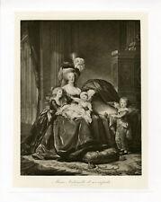 """VIGEE LE BRUN: MARIE ANTOINETTE"" Phototypie originale BRAUN CLEMENT & Cie 1890"
