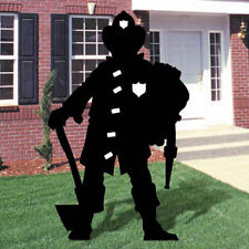 **NEW** Lawn Art Yard Shadow/Silhouette - Fireman