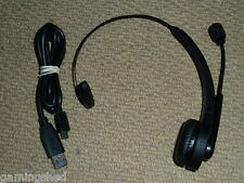 PLAYSTATION 3 PS3 WIRELESS BLUETOOTH HEADSET MICROPHONE + USB Charging Cable Mic