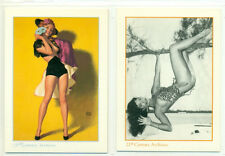 PROMO CARD LOT - 21st CENTURY ARCHIVES- 2 DIFFERENT CARDS-BETTIE PAGE+EARL MORAN