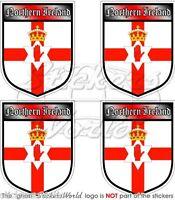 """IRLANDA del NORD Scudi UK Adesivi Regno Unito ULSTER BANNER 50mm(2"""") Stickers x4"""