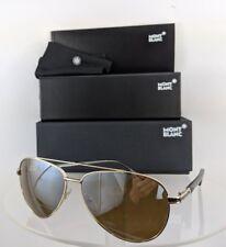 Brand New Authentic Mont Blanc Sunglasses MB 702S 32L Frame Gold Black Frame 702