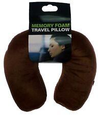 Marrón de espuma cuello Almohada Suave Comfort Travel Cojín Oficina Exterior Soporte Posterior