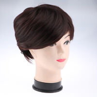 Brown Women Fashion Wig 30cm Short Straight Heat Resistant Synthetic Wigs