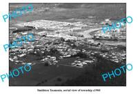 OLD 6 x 4 PHOTO FEATURING SMITHTON TASMANIA AERIAL VIEW OF TOWNSHIP c1960