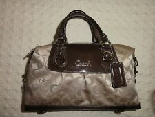 PRE-OWNED BROWN SIGNATURE ASHLEY COACH BAG