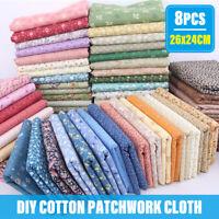 8PCS 26x24cm DIY Cotton Patchwork Quilting Cloth Sewing Fabric Bundle  for