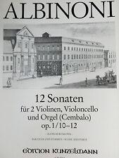 Albinoni - 12 Sonaten Op.1/10-12 - für 2 Violinen, Cello und Orgel/Cembalo