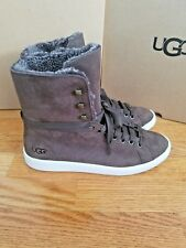 NEW UGG™ Starlyn Sheepskin Leather High Top Boot Shoe Brown Chocolate  8 EU 39