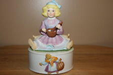 Vintage 1982 Mann Little Ms. Muffet Sat On Her Tuffet Eating Her Curds And Whey
