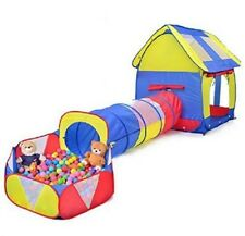 Kids Play House Tent Tunnel 3 Pc Indoor Outdoor Boy Girl Toddler Gift Yard New