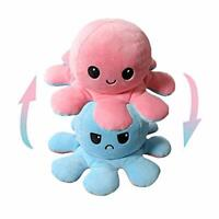 Double-Sided/Reversible Flip Octopus Doll Small Stuffed Animal, Cute Plush Toy