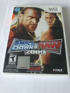Smack Down Vs Raw 2009 Nintendo Wii COMPLETE Very Good Condition