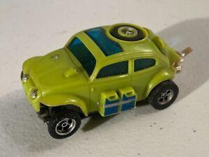 1970's Aurora AFX Slot Car Toy - Baja Bug VW in Green