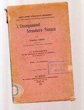 l enseignement secondaire femiin par fenelon gibon  - 1920 - octobervstsrea