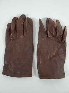 [RARE] Vintage 1974 Horsehide RCMP Leather Gloves Pair By Balcer Gold Medal Sz 9