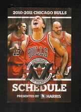 Chicago Bulls--2010-11 Pocket Schedule--Bulls Radio Network--Rose/Boozer/Noah