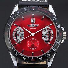 Superbe Montre WINNER Pour Homme Model De Luxe Mecanique Squelette Quartz Rouge