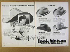 1972 Stetson Western Hats Gun Club For-N-Aft Marlboro styles 1972 IH Internation