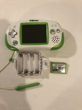 LeapFrog Green Leapster Explorer Game System with stylus And 1 Game Bundle