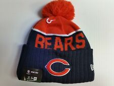 Chicago Bears New Era Knit Hat On Field Sideline Beanie Pom Stocking Cap 2015