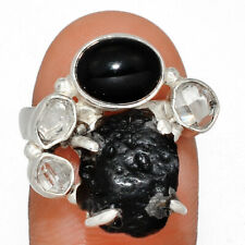 Tektite 925 Sterling Silver Ring Jewelry s.7.5 AR175538 133V