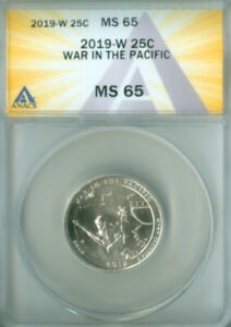 2019-W Washington quarter ATB War in the Pacific  ANACS MS-65 (2127202)