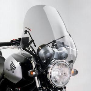 PUIG WINDSHIELD RANGER HYOSUNG GT650 R 05-12 LIGHT SMOKE