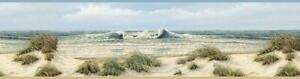 Wallpaper Border Falmouth Beige Sand Dunes Beach Coast Shore Waves Seagulls