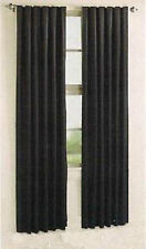 Black Concealed Tab Top Blockout Curtain 140cm x 2 x 213cm