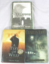 Charles Todd Novels HCDJ - Lot of 3 Books