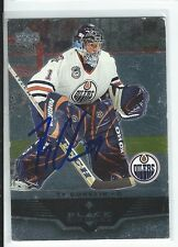 Ty Conklin Signed 2005/06 Upper Deck Black Diamond Card #31