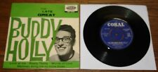 """BUDDY  HOLLY ~ THE LATE GREAT ~ UK CIRCULAR CORAL 4-TRACK 7"""" EP 1958 NEAR MINT"""