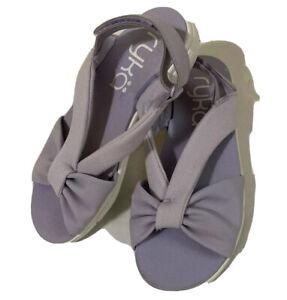 Ryka Womens Macy Slingback Sandals Lavender Adjustable Closure NWOB 6M Comfort!