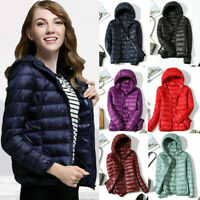 Jacket Coat Winter Women's Hoodie Puffer Packable Down Ultralight Stand Collar