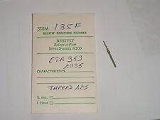 ETA winding stem 953  1035  1036  tige de remontoir / Aufzugswelle Bulova 17AH