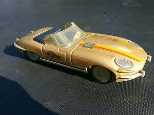VINTAGE JAGUAR RALLYE LEMEZARU GYAR E TYPE 80s TIN TOY CAR FRICTION 1:18 HUNGARY
