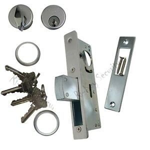 Storefront Door Mortise Lock Bolt Deadbolt w/ 2 Cylinders Adams Rite Cam SC1-TT