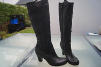 Apepazza Ladies Luxury Boots Shoes Chic Gr.36 Black Soft Leather Like New