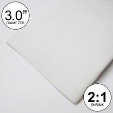 "3"" ID White Heat Shrink Tube 2:1 ratio 3.0"" wrap (4 feet) inch/ft/feet/to 80mm"