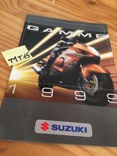 Suzuki gamme 1999 moto scooter quad prospectus brochure publicité prospekt pub