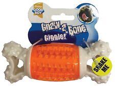 Good Boy Dog Puppy Gnaw a Bone Nylon GIGGLER Dental Interactive Toy Chew 17cm