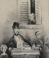 Honore Daumier France 1808-1879 Lithograph Adieu!...Adieu! Le Charivari, 1841